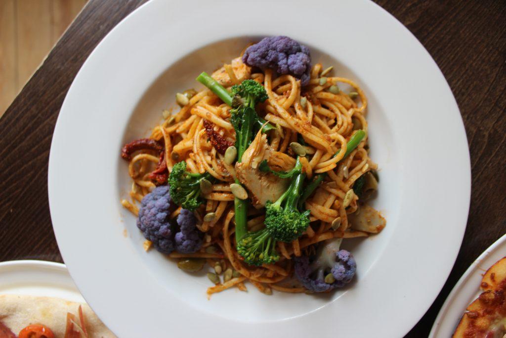 Linguine al Pesto at Italian House restaurant in Frinton